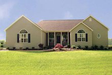 Ranch Exterior - Front Elevation Plan #456-81