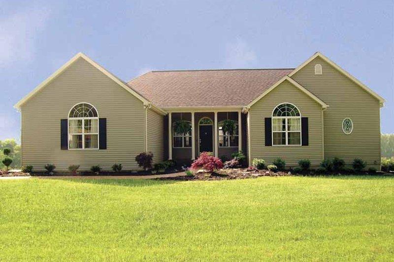 Ranch Exterior - Front Elevation Plan #456-81 - Houseplans.com