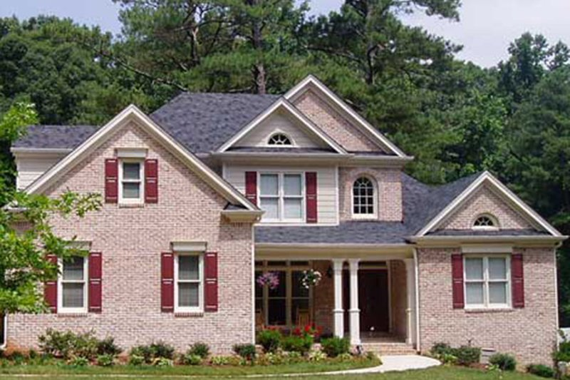 Colonial Exterior - Front Elevation Plan #927-606 - Houseplans.com