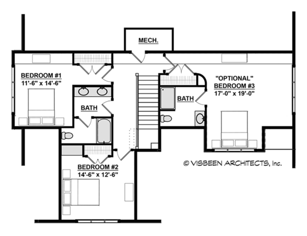 Traditional Floor Plan - Upper Floor Plan Plan #928-288