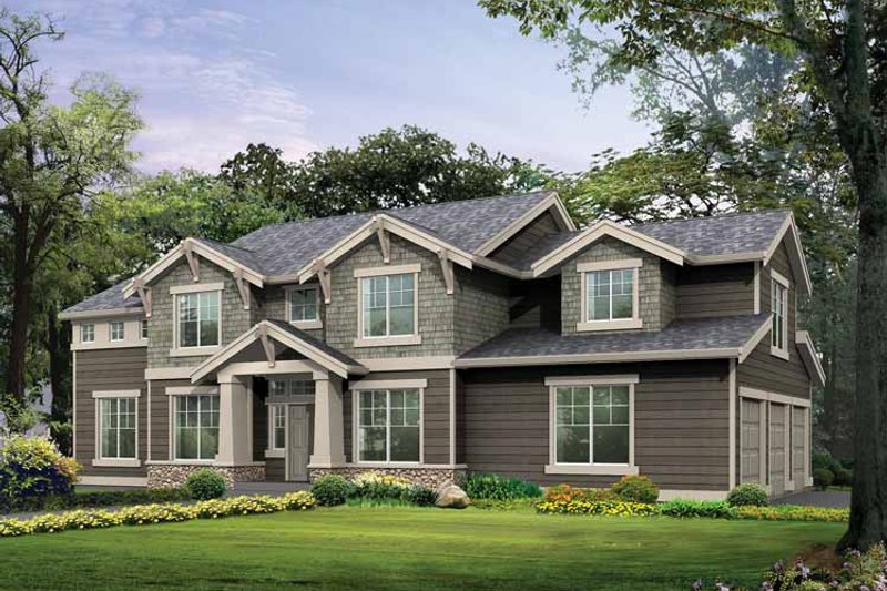 Craftsman Exterior - Front Elevation Plan #132-325
