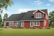 House Plan Design - Craftsman Exterior - Rear Elevation Plan #48-957