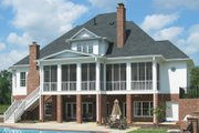 Colonial Style House Plan - 4 Beds 3.5 Baths 4411 Sq/Ft Plan #1054-29 Exterior - Rear Elevation