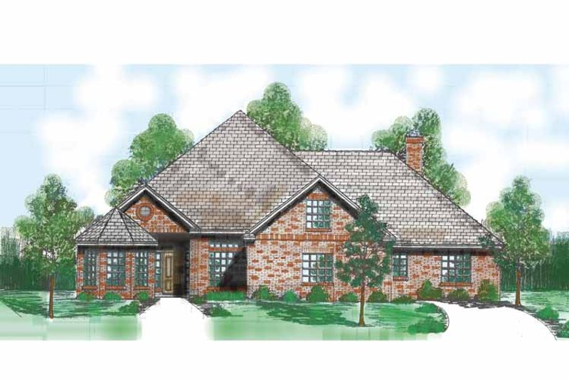 Traditional Exterior - Front Elevation Plan #52-270 - Houseplans.com