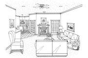 Mediterranean Style House Plan - 4 Beds 2 Baths 1917 Sq/Ft Plan #45-341