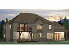 Country Exterior - Rear Elevation Plan #937-9
