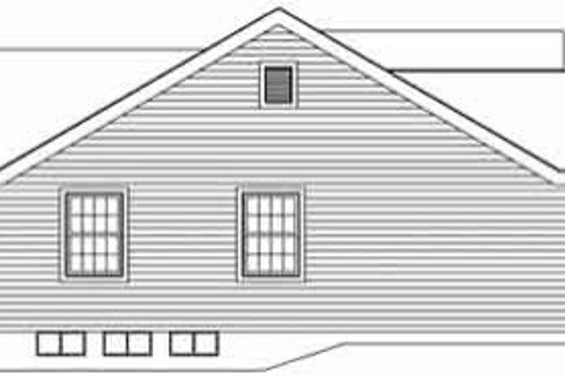 Traditional Exterior - Rear Elevation Plan #57-152 - Houseplans.com