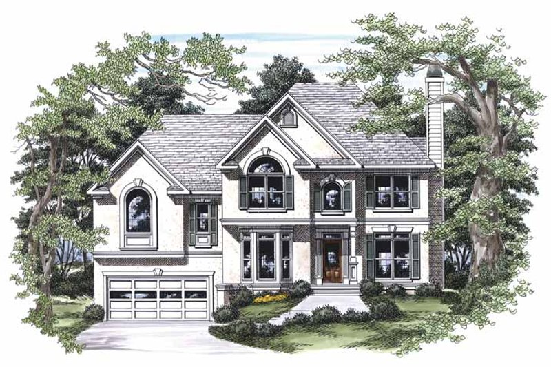 Traditional Exterior - Front Elevation Plan #927-453