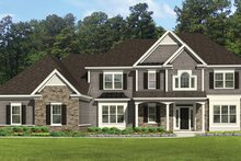 Home Plan - Colonial Exterior - Front Elevation Plan #1010-177