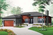 Contemporary Style House Plan - 2 Beds 1 Baths 1676 Sq/Ft Plan #23-2294 Exterior - Front Elevation