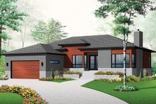 Dream House Plan - Front View - 1700 square foot modern home