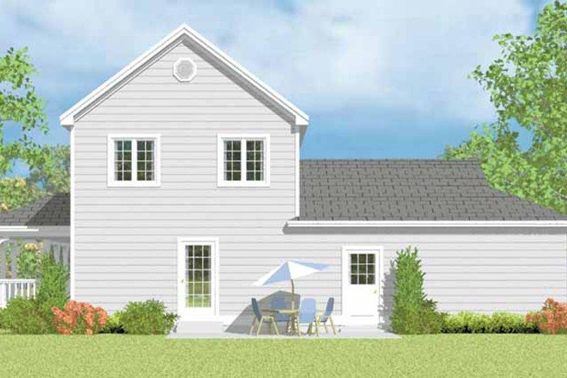 Victorian Exterior - Rear Elevation Plan #72-1110 - Houseplans.com