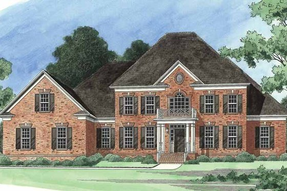 Colonial Exterior - Front Elevation Plan #1054-5