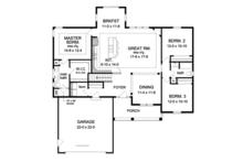 Ranch Floor Plan - Main Floor Plan Plan #1010-72
