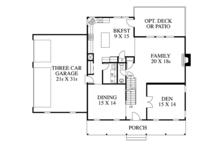 Colonial Floor Plan - Main Floor Plan Plan #1053-69