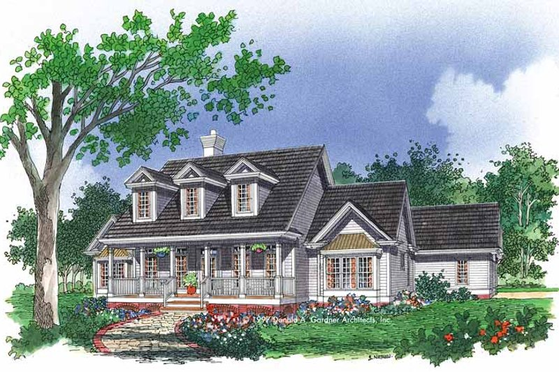 Country Exterior - Front Elevation Plan #929-345