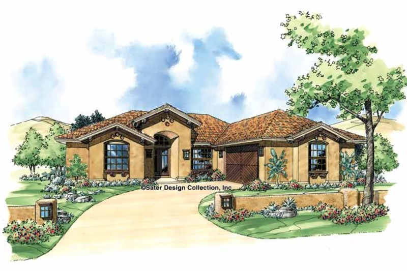 Mediterranean Exterior - Front Elevation Plan #930-304 - Houseplans.com