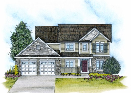 Traditional Exterior - Front Elevation Plan #20-2085 - Houseplans.com