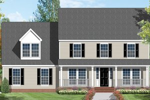 Country Exterior - Front Elevation Plan #1053-20