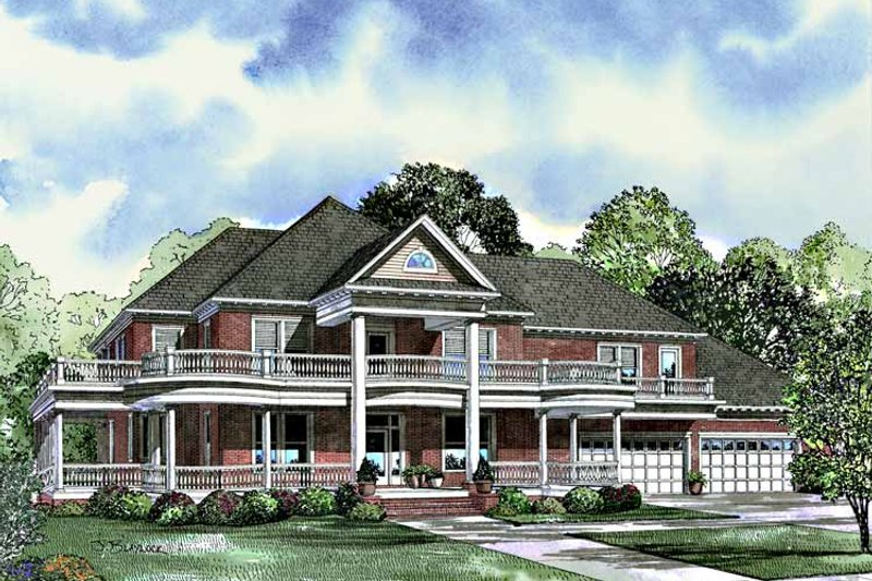 House Plan Design - Southern Exterior - Front Elevation Plan #17-3092