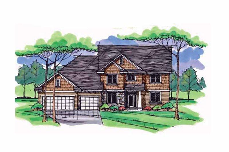 Colonial Exterior - Front Elevation Plan #51-1018 - Houseplans.com