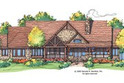 Craftsman Style House Plan - 3 Beds 3.5 Baths 2882 Sq/Ft Plan #929-928 Exterior - Rear Elevation