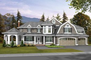 Architectural House Design - Craftsman Exterior - Front Elevation Plan #132-238