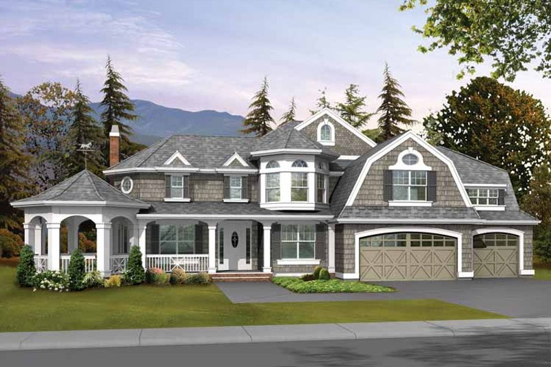 Dream House Plan - Craftsman Exterior - Front Elevation Plan #132-238