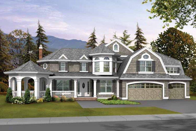 Architectural House Design - Craftsman Exterior - Front Elevation Plan #132-238