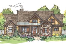 Architectural House Design - Craftsman Exterior - Front Elevation Plan #929-936