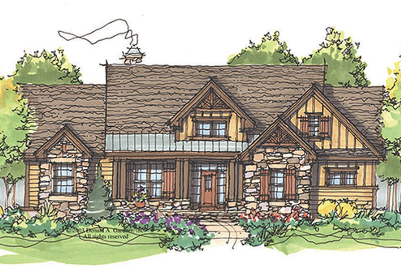 Craftsman Exterior - Front Elevation Plan #929-936 - Houseplans.com
