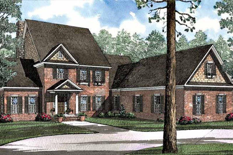 Colonial Exterior - Front Elevation Plan #17-3065