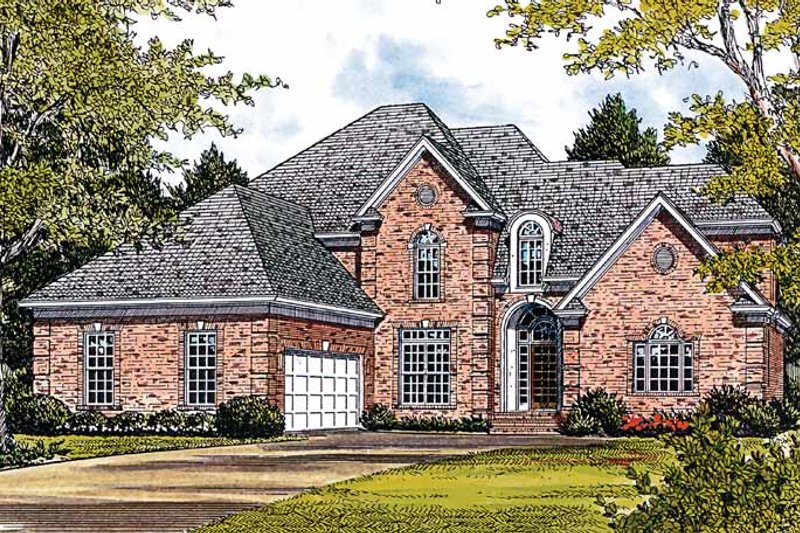 Traditional Exterior - Front Elevation Plan #453-219 - Houseplans.com