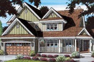 Cottage Exterior - Front Elevation Plan #312-133