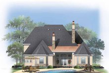 European Exterior - Rear Elevation Plan #929-834