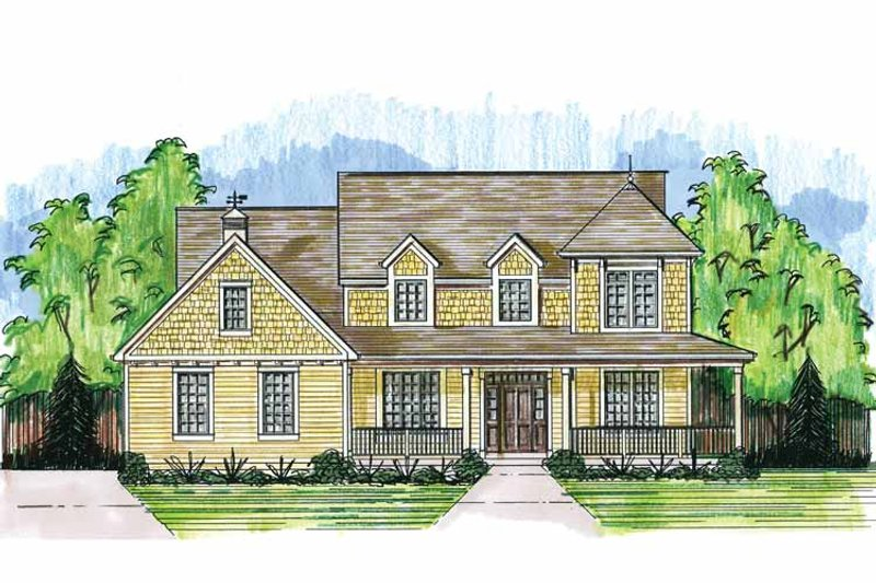 Country Exterior - Front Elevation Plan #46-819 - Houseplans.com