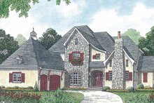 House Plan Design - Country Exterior - Front Elevation Plan #453-457