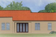 Mediterranean Style House Plan - 3 Beds 2 Baths 1684 Sq/Ft Plan #1058-4 Exterior - Rear Elevation