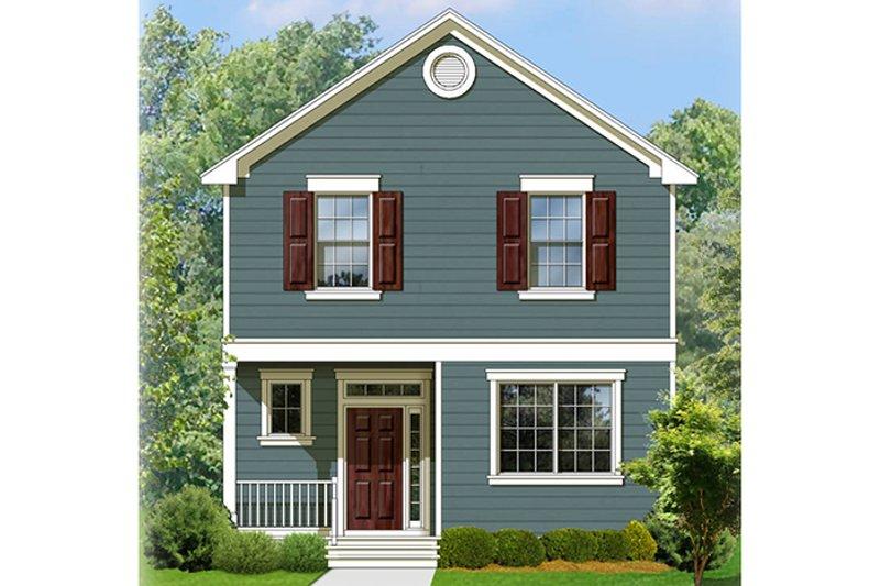 Colonial Exterior - Front Elevation Plan #1058-91 - Houseplans.com