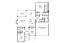 Craftsman Floor Plan - Main Floor Plan Plan #316-274