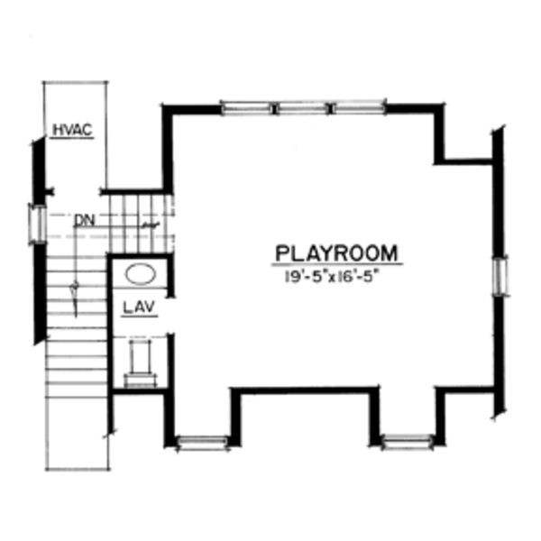 Craftsman Floor Plan - Upper Floor Plan Plan #1016-98