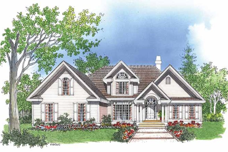 Dream House Plan - Traditional Exterior - Front Elevation Plan #929-229