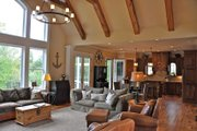 Craftsman Style House Plan - 4 Beds 3.5 Baths 3807 Sq/Ft Plan #437-69 Interior - Family Room