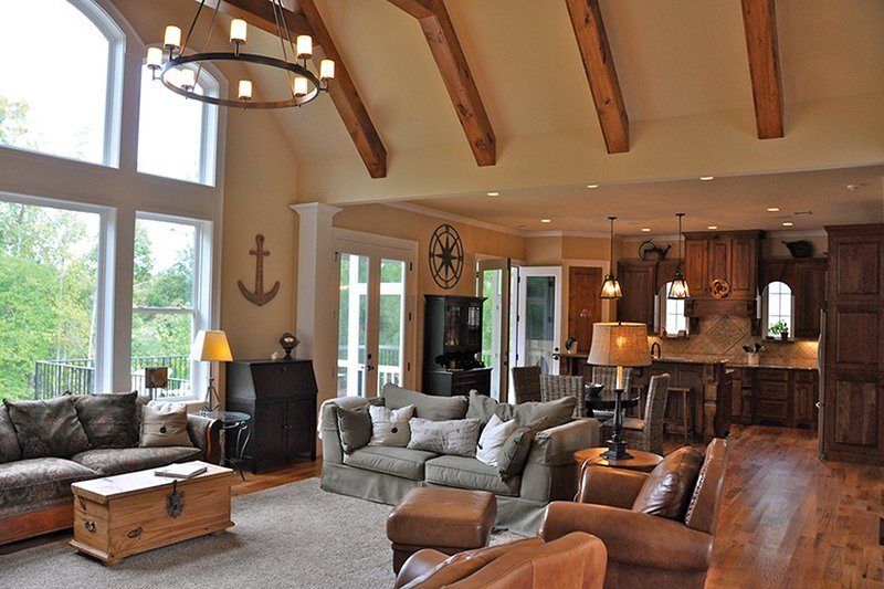Craftsman Interior - Family Room Plan #437-69 - Houseplans.com