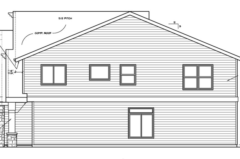 Country Exterior - Other Elevation Plan #509-312 - Houseplans.com