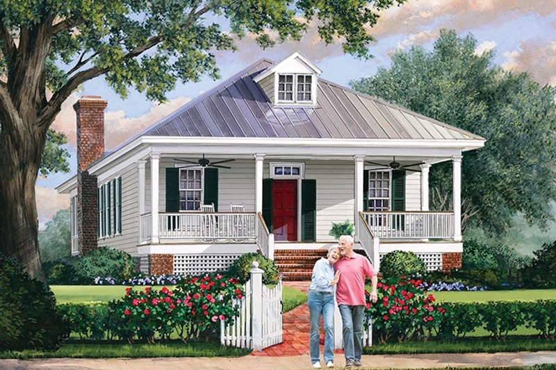 Dream House Plan - Country Exterior - Front Elevation Plan #137-370
