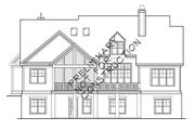 Country Style House Plan - 4 Beds 3.5 Baths 2834 Sq/Ft Plan #927-942 Exterior - Rear Elevation