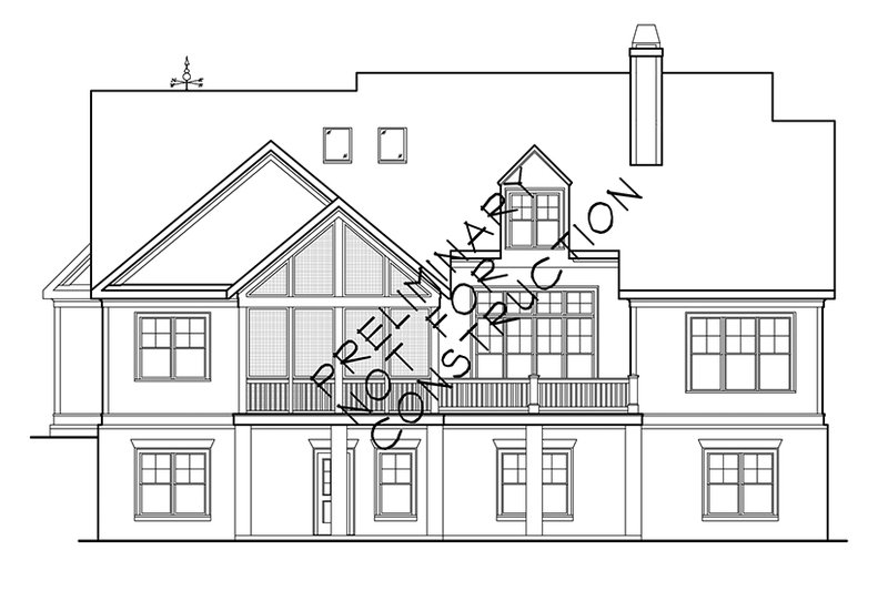 Country Exterior - Rear Elevation Plan #927-942 - Houseplans.com