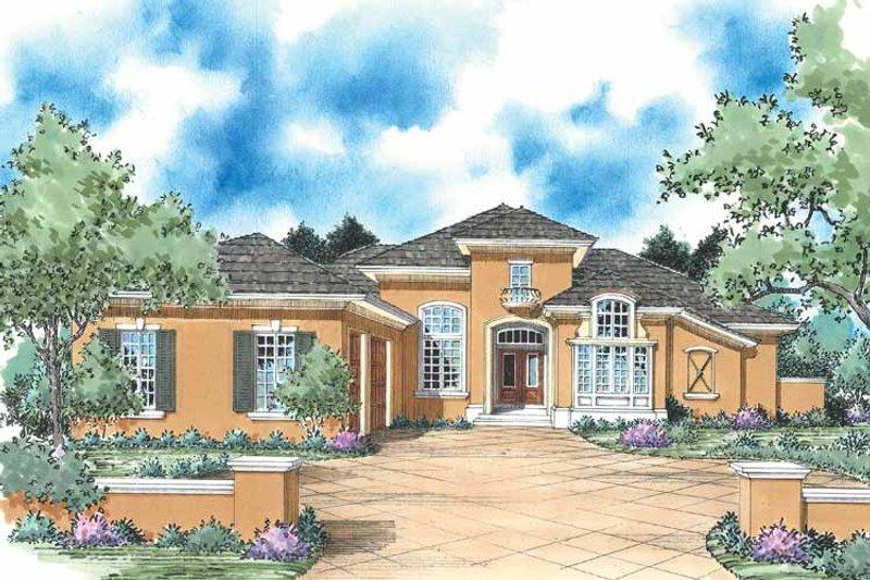 Architectural House Design - Mediterranean Exterior - Front Elevation Plan #930-346