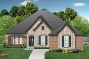 European Style House Plan - 4 Beds 2 Baths 2120 Sq/Ft Plan #84-568 Exterior - Front Elevation